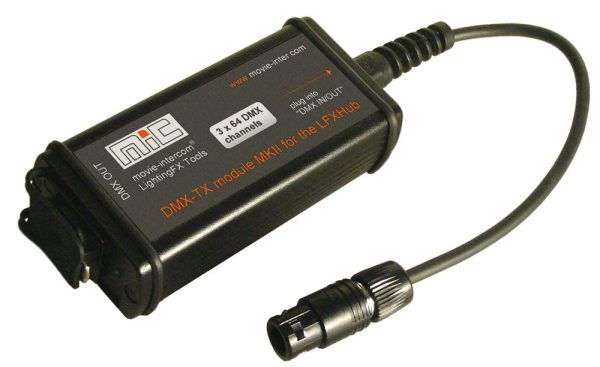 DMX-512 output module LFXHub flicker generator