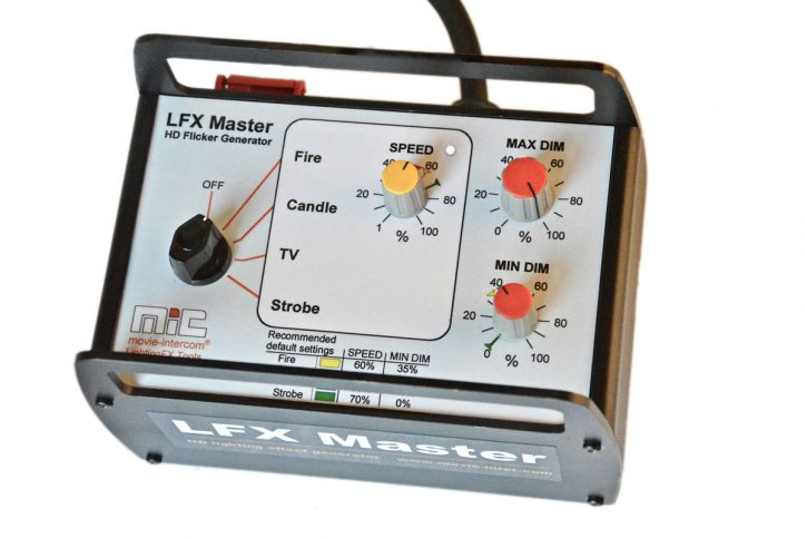 LFX Master dim - the simply universal flicker box
