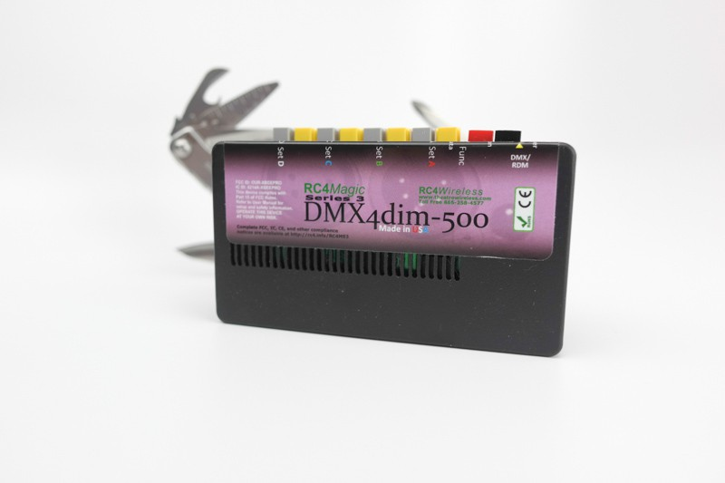 DMX4dim500 wireless DMX DC-dimmer, 500W, 4 channels