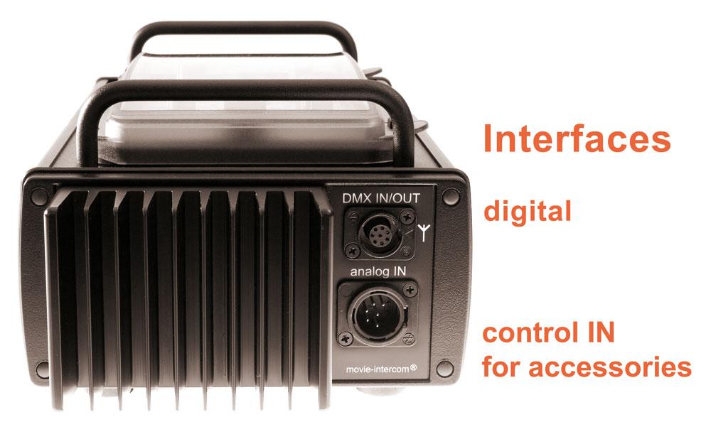 LFXHub flicker box: input for accessories, digital for DMX module