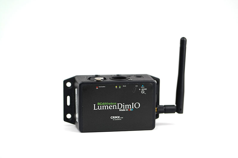 Lumenradio LumenDimIO wireless dmx transceiver RC4 Wireless DMX
