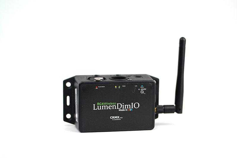 Lumenradio LumenDimIO wireless dmx transceiver RC4 Wireless DMX
