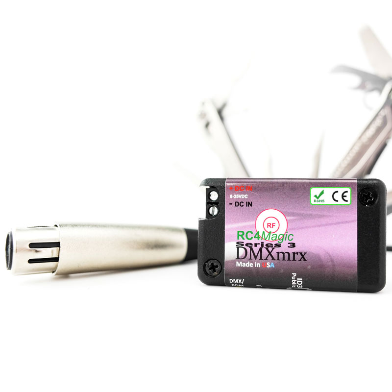 RC4Magic S3 2.4GHz wireless DMXmrx Miniature Data Receiver