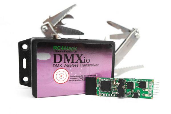 DMX2dim mirco w transmitter dmxio