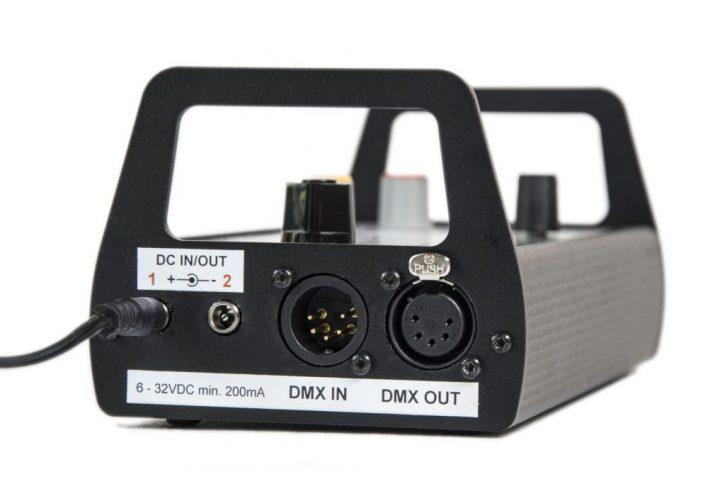 flicker box LFX Master DMX input/output, DC jacks