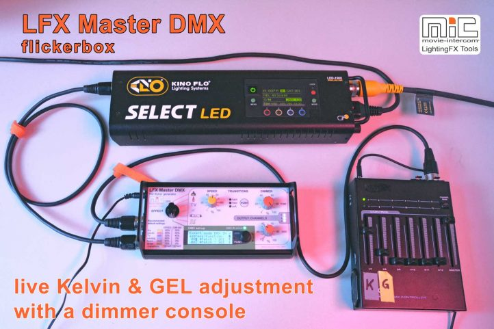 live kelvin & gel control with a dimmer console
