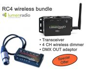 Lumenradio LumendimIO transceiver + 4 channel wireless DC-dimmer special offer