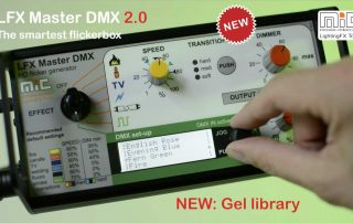 LFX Master DMX firmware 2.0 breaking news - select a gel by name from the new gel library