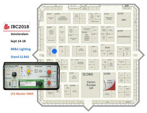 IBC Amsterdam – 14-18 September, Demo LFX Master DMX Halle 12 Stand B42