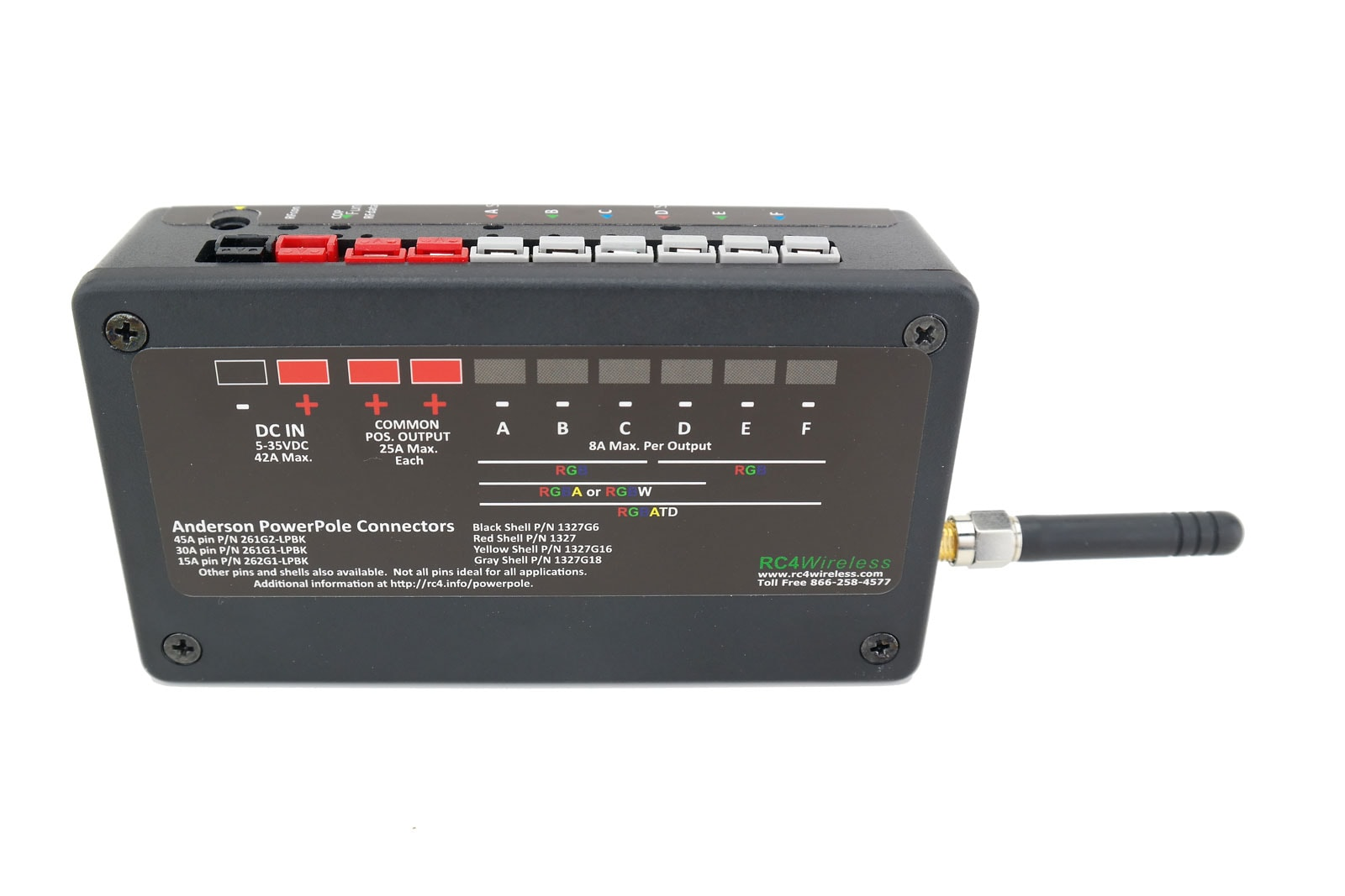 RC4 Wireless: 6-channel, 500W - wireless DMX receiver dimmer