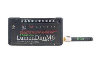 RC4 Wireless: LumenDim6, miniature- Wireless DMX receiver dimmer