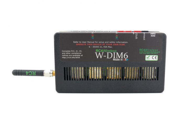RC4 Wireless: W-DIM 6-channel, 500W - wireless DMX receiver dimmer