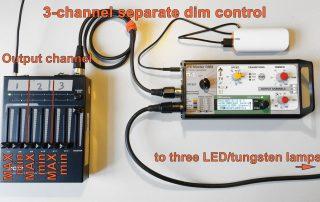 Pic of LFX Master DXM - separate 3-channel dim control