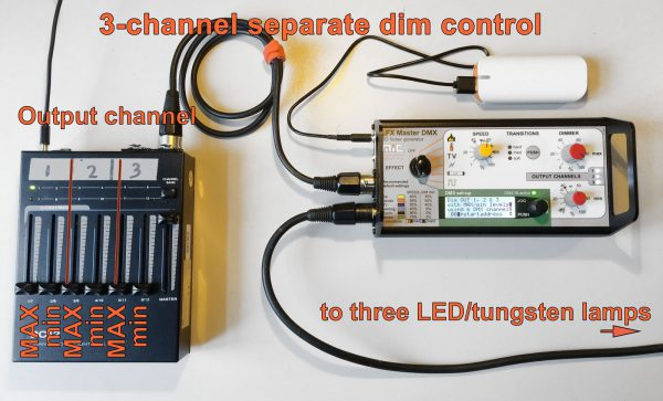 Pic of LFX Master DXM - separate 3-channel dim control