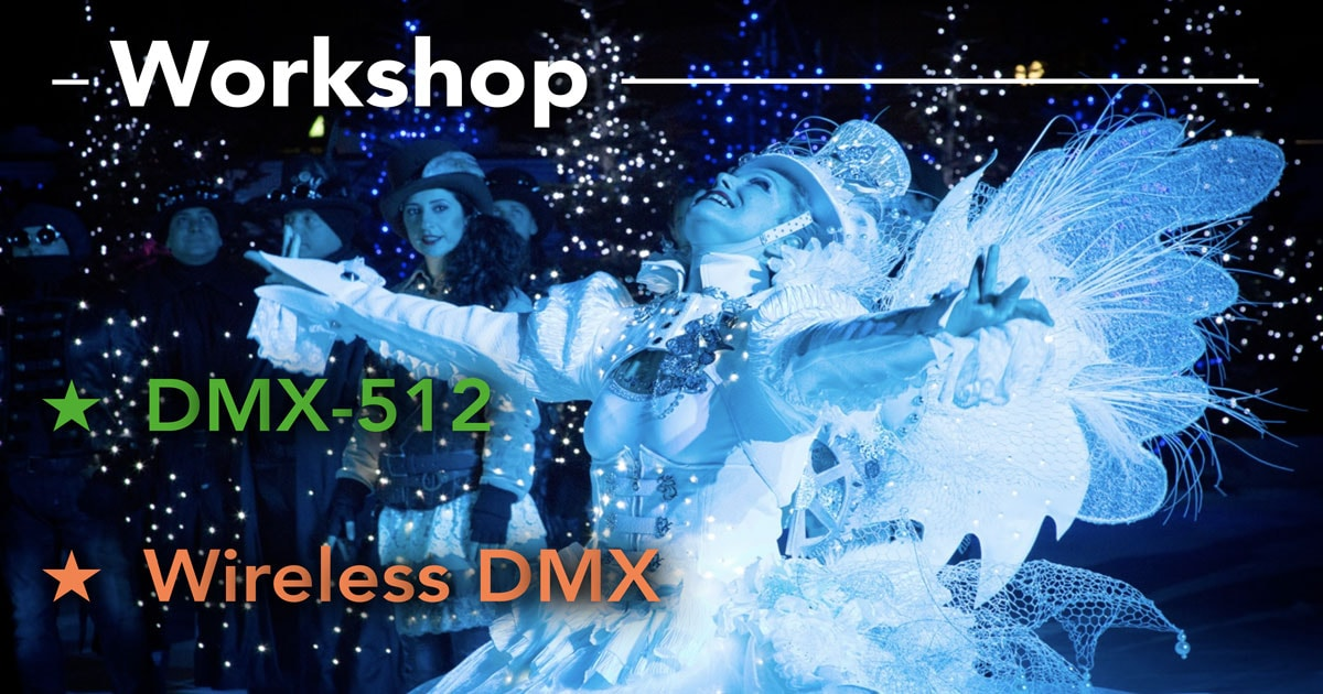 DMX-512 and wireless DMX Workshop Spring-2019-movie-intercom- in Stockholm