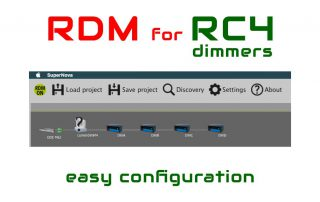 RDM configuration for RC4 wireless dimers with Supernova